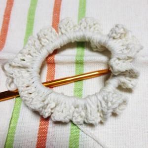 編みシュシュ 編み方
