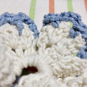 手作りシュシュ 編み目