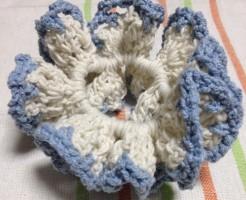 手作り編みシュシュ 夏