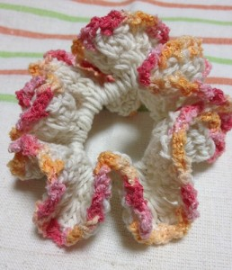 手作りシュシュ かぎ針編み