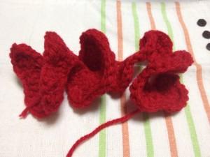 巻きバラ アクリルたわし 編み方