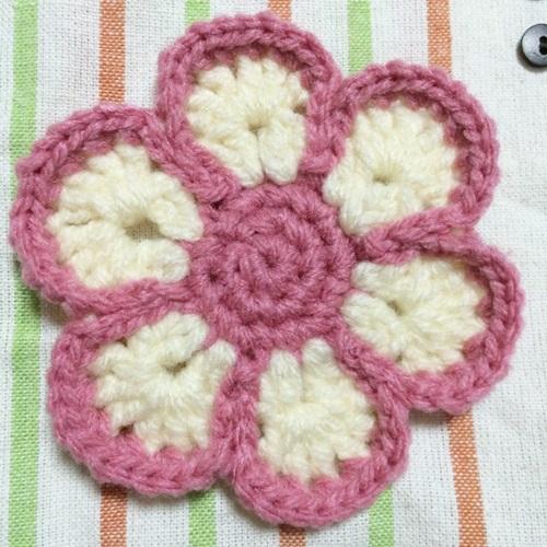 ずっと編み図を探していた花のアクリルたわし(エコたわし)