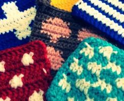 編み込み模様 たわし