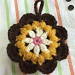 花 エコたわし かぎ針編みのエコたわし111