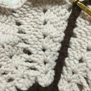 マーガレットの円座 縁編み