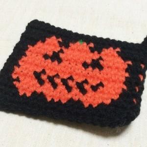 ハロウィン 編み込み模様 ジャックランタン