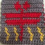 編み込み模様 かぎ針編み 秋
