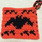 ハロウィン 図案 こうもり かぎ針編み