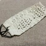 カチューム 手作り かぎ針編み 幅広