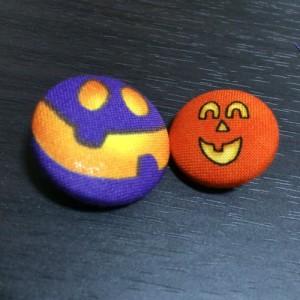 ハロウィン くるみボタン かぼちゃ ジャックオランタン
