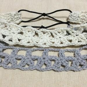 カチューム 花 かぎ針編み 手作り