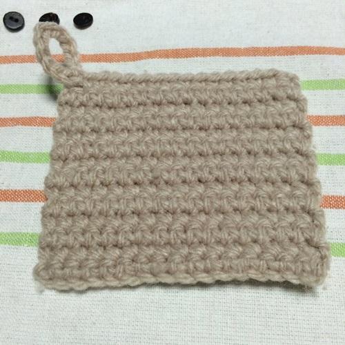 かぎ針編みでアクリルたわし 細編みの簡単な四角のエコたわしの作り方