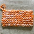 棒針編み ガーター編み アクリルたわし
