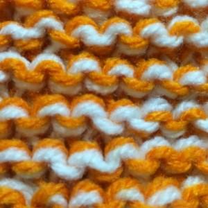 ガーター編み アクリルたわし 編み目