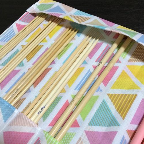 棒針ケースの作り方 100円ショップの手ぬぐいで型紙いらず簡単手作り