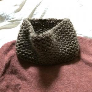 手編み スヌード 棒針編み 簡単