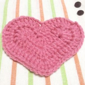 ハート アクリルたわし バレンタイン エコたわし かぎ針編み