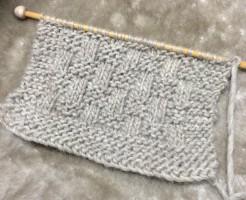 マフラー 簡単 初心者 メンズ 男性 デザイン 格子 キット 毛糸 手編み 棒針編み