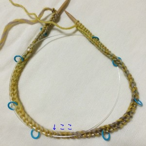 輪針 帽子 編み方 小さい輪 長さ