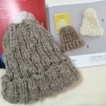 今すぐかぶりたい手編みの帽子 編み図 本 ニット帽 棒針編み 輪針 帽子 手作り ハンドメイド