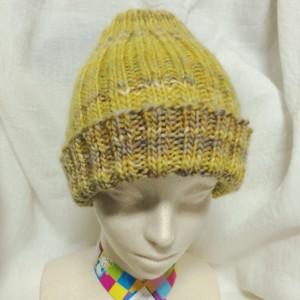 ニット帽 帽子 手編み 棒針編み 輪針 ハンドメイド 手作り 作り目 長さ