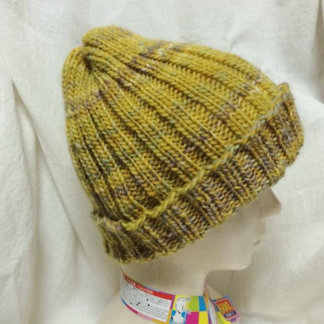 輪針で編んだ秋冬用のニット帽が完成!簡単・手作りの棒針編みの帽子