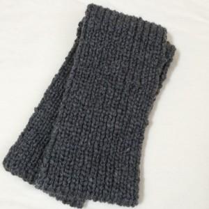 スヌード 手編み 棒針編み 二目ゴム編み 長さ メンズ
