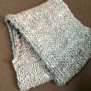 ハマナカ コンテ Conte' スヌード 棒針編み 手編み 超極太 簡単 メリヤス編み