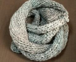ハマナカ コンテ Conte' スヌード 棒針編み 手編み 超極太 簡単 メンズ 二重