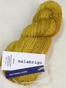MALABRIGO マラブリゴ  Worsted ウーステッド 単色カラー 色番 35 FRANK OCHRE