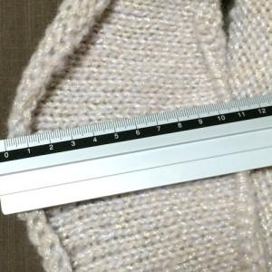 手編み スヌード メリヤス編み 毛糸 ピエロ ジュエル ラメ入り 編み図 編み方