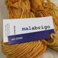マラブリゴ シルキーメリノ MALABRIGO Silky Merino 405 SAND 黄色 シルク メリノウール 毛糸 輸入 絹