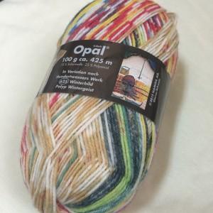 opal 2104 フンデルトヴァッサー 毛糸 帽子 ネックウォーマー 編み方 靴下用毛糸 人気 マルチカラー 段染