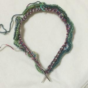 opal 帽子 編み方 棒針 号数 輪針 手編み 帽子 ネックウォーマー 巻物 腹巻帽子 作り目