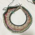opal 帽子 編み方 棒針 号数 輪針 手編み 帽子 ネックウォーマー 巻物 腹巻帽子 作り目 メリヤス編み