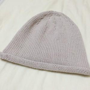 手編み 帽子 ニット帽 輪針 棒針編み メリヤス編み シンプル 夏用 毛糸 糸 簡単