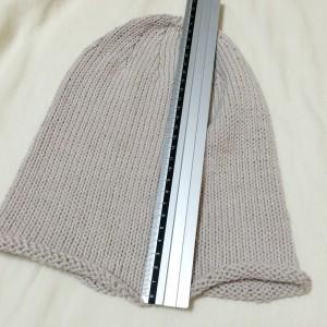 手編み 帽子 ニット帽 輪針 棒針編み メリヤス編み シンプル 夏用 毛糸 糸 簡単 サマー ワッチキャップ ビーニー