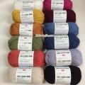 ダイソー 毛糸 2016 冬糸 新作 100均 ウール 100% 全色 カラー 種類 並太 太さ