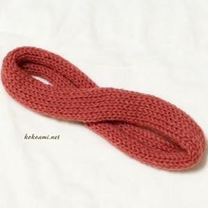 あみむめも 作品 ヘアバンド 機械編み 棒針編み メリヤス編み 簡単 編み機