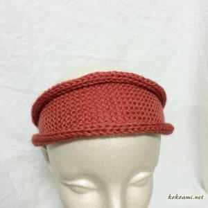 棒針編み ヘアバンド 簡単 あみむめも 作品 小物 メリヤス編み まっすぐ編み 機械編み 編み機