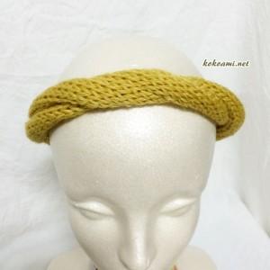 ダイソー 毛糸 ヘアバンド 100均 手編み 棒針編み 簡単 メリヤス編み 機械編み あみむめも 編み機