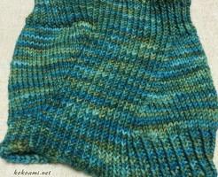 手編み ネックウォーマー 棒針編み 簡単 アシンメトリー 編み図 編み物 マラブリゴ Rios