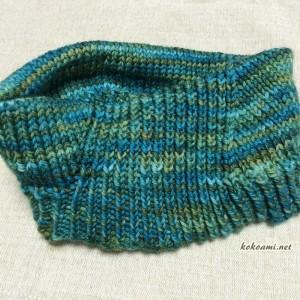 手編み ネックウォーマー ラベリー ヴィントシーフ 棒針編み 簡単 カウル 編み図 マラブリゴ Rios