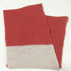 あみむめも 機械編み 作品 スヌード 簡単 ダイソー 毛糸 100均 棒針