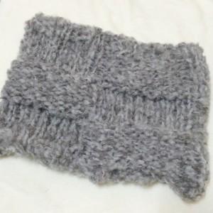 ネックウォーマー 手編み 棒針編み 簡単 キット 毛糸 1玉 ビックボールミスト 横田 ダルマ