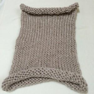 ネックウォーマー 棒針編み 極太 簡単 機械編み 輪編み 編み機 Addi express 46 アディエクスプレス