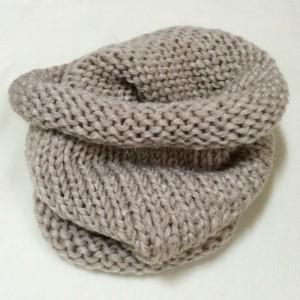 ネックウォーマー 棒針編み 極太 簡単 輪編み 編み機 Addi express 46 メリヤス編み 機械編み