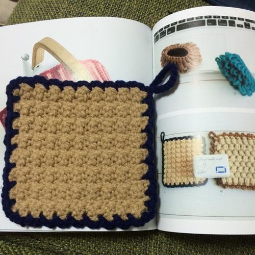 かぎ針編みの使いやすい・簡単・シンプルな四角のアクリルたわし