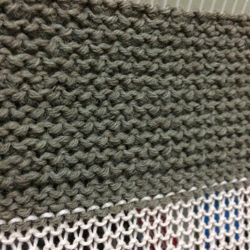 あみむめもGK-370で試し編み 引き上げ編みでの模様編みに挑戦